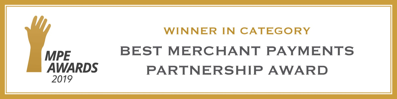 MPE 2019 award for cash register alternative integrated omni-commerce payment api with mobile credit card reader