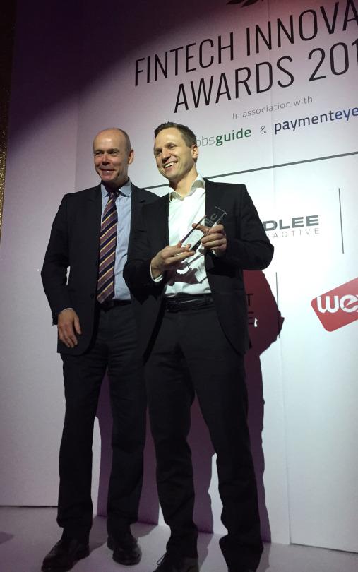 fintech innovation awards trophy 2015